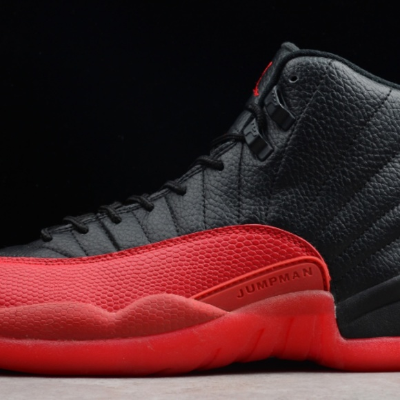 24f5f28b23d Shoes | Air Jordan 12 Retro Flu Game Black Varsity Red 1 | Poshmark